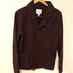 Old Navy Red and Black Henley Button Up Cardigan